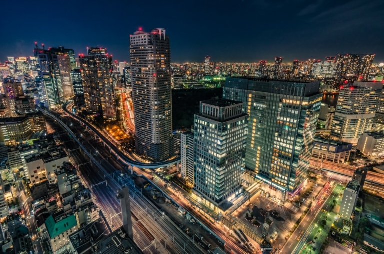 Photo of Tokyo at night
