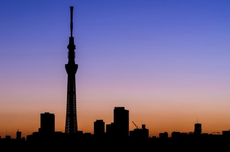 Tokyo Skytree silhouette