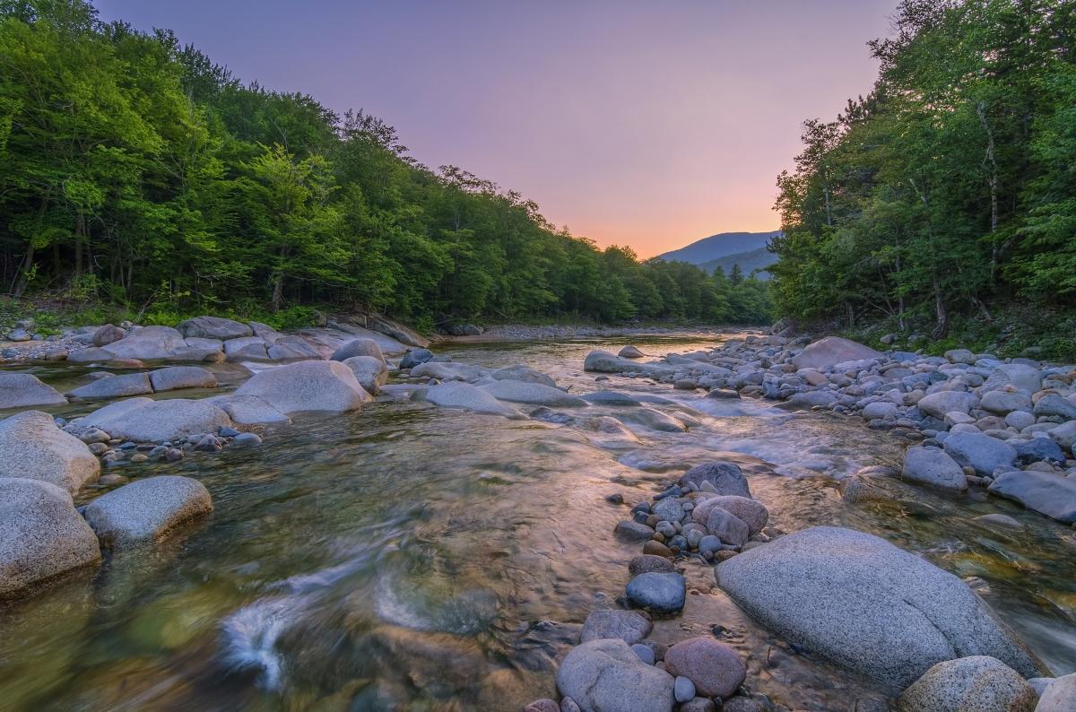 Summer Sunset on the Pemigewasset  Les Taylor Photo