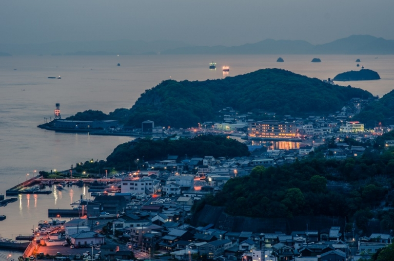 Shimotsui at dusk