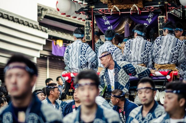 Men at the Narita Gion Matsuri