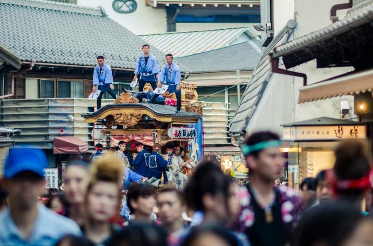Floats at Narita Gion Matsuri