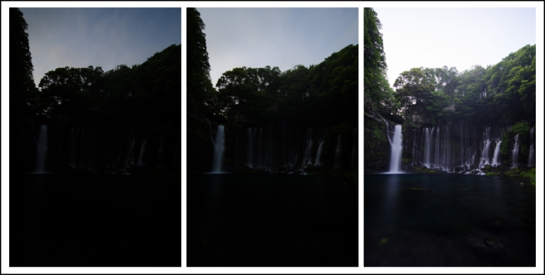 Three Exposures Of Shiraito Falls