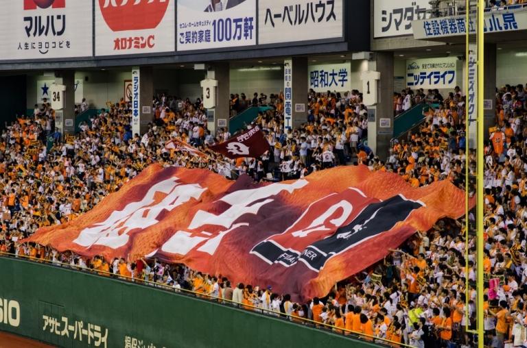 banner at a baseball game