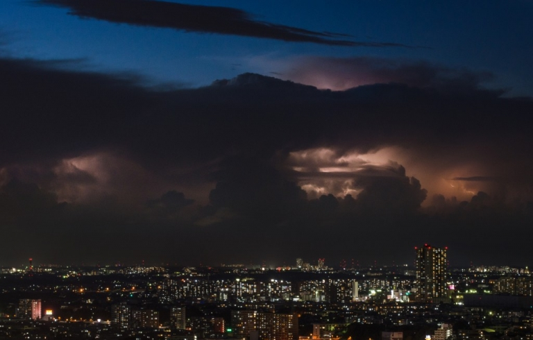 Photo of storms over Japan