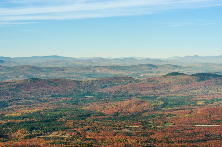 white mountains in autumn