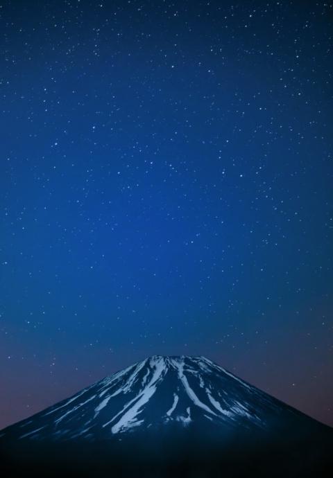 Mt Fuji and stars
