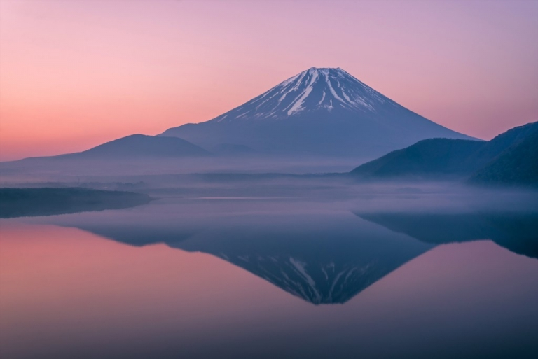 Mt Fuji reflection