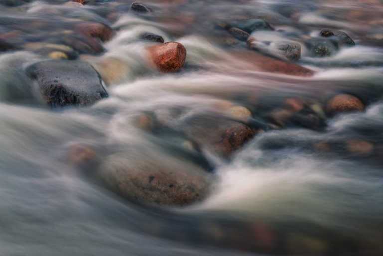 Flow water in a river