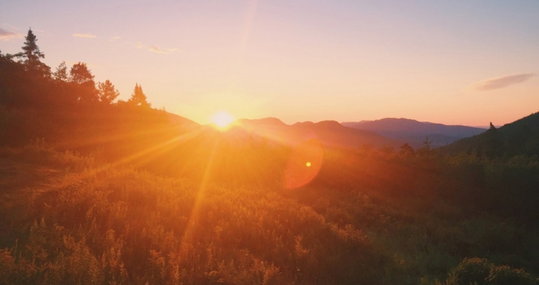 White Mountain surnise New Hampshire