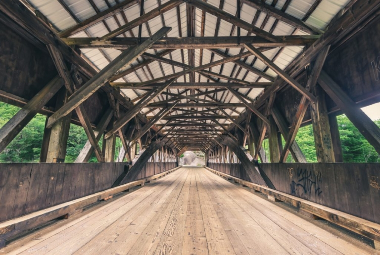 Albany Covered Bridge Inside