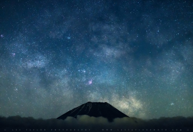 Milky Way Rising Over Mountain