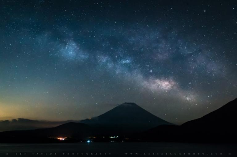 Photo of Milky Way and Mt Fuji